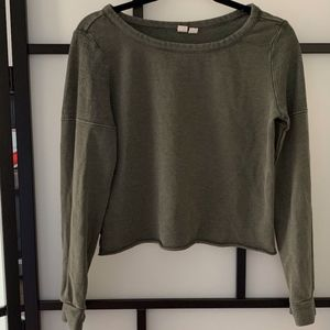 Melrose and Market Army Green Long Sleeve Sweater